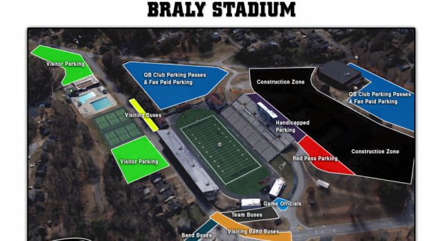 Parking Information for Varsity Football