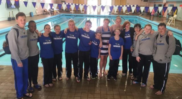 Swimming at Quad Cities Invitational