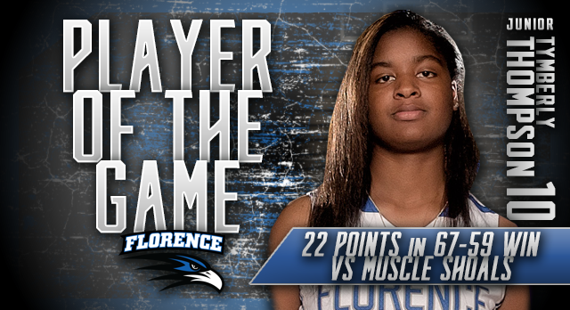 Tymberly Thompson: Player of the Game vs Muscle Shoals