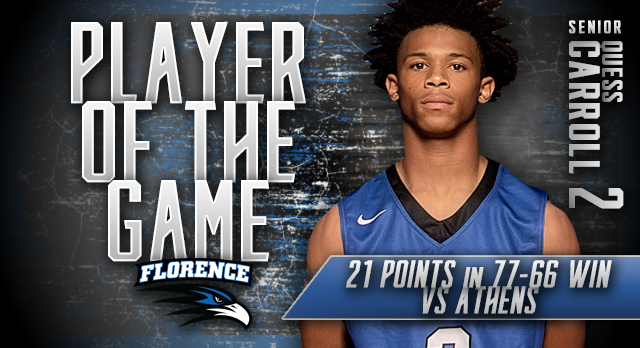 Player of Game vs Athens: Quess Carroll