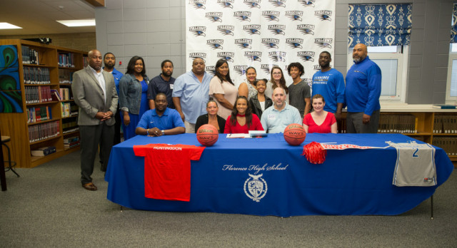 Indya Lawrence signs with Huntington College