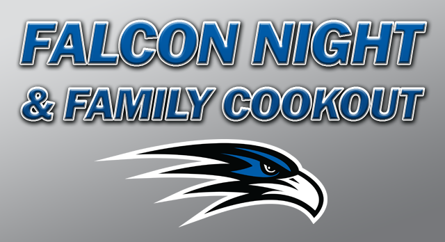 Falcon Night & Family Cookout: AUG. 18, 6 PM