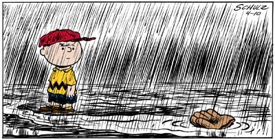 Baseball Rain Charlie Brown