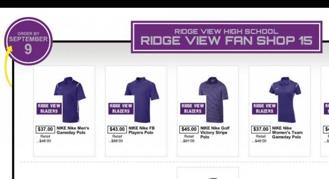 Ridge View Nike Polo Shirts For Sale