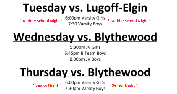 Home Basketball Games This Week