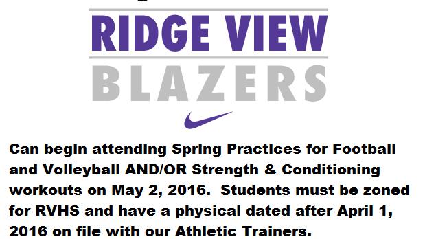 Rising Freshmen Can Begin Working Out May 2