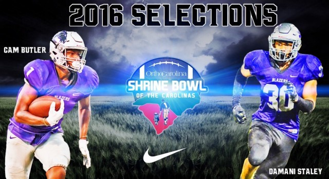 Cameron Butler and Damani Staley Selected for 2016 Shrine Bowl