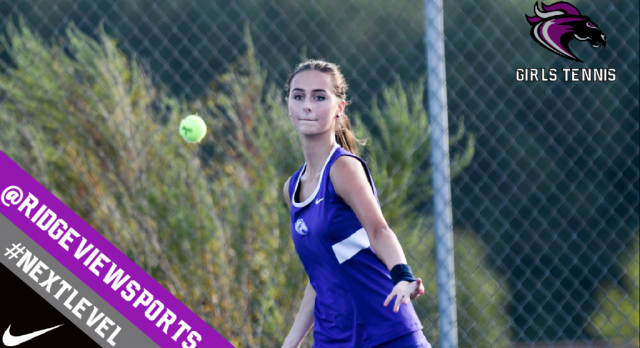 Ridge View Girls Tennis Opens Season Tomorrow at Dreher