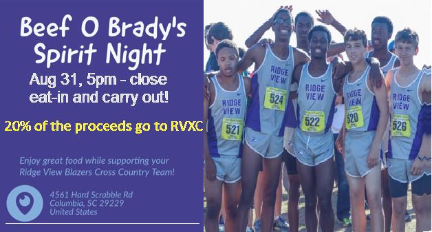 Beef 'o' Brady's Spirit Night Coming Up Thursday