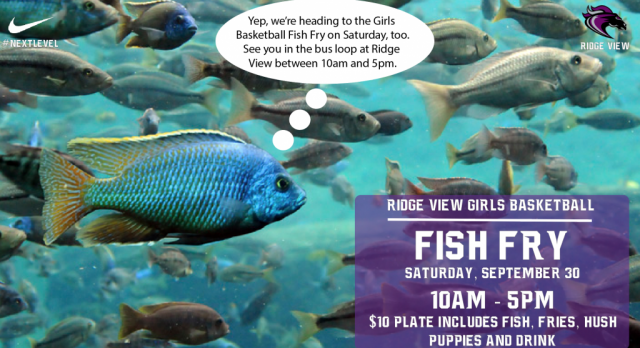 FISH FRY for Girls Basketball Tomorrow!