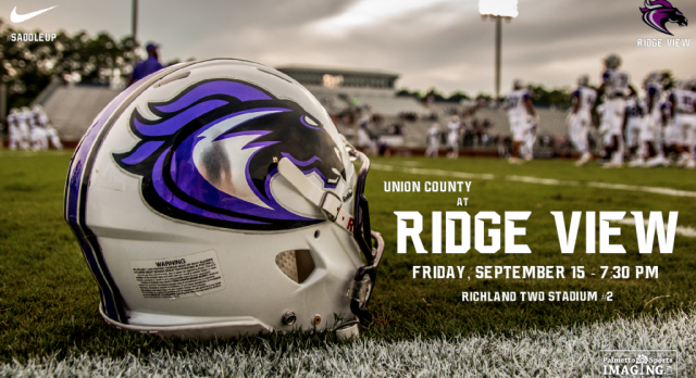 HOME FOOTBALL:  Friday Night at 7:30pm vs. Union County