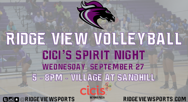 Volleyball Cici's Night This Wednesday!