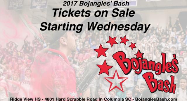2017 Bojangles' Bash Tickets Go on Sale Beginning Wednesday