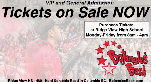 2017 @BojanglesBash Tickets on Sale Starting TODAY