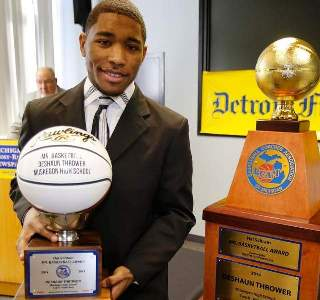DeShaun Thrower Wins Prestigious Mr Basketball Award!