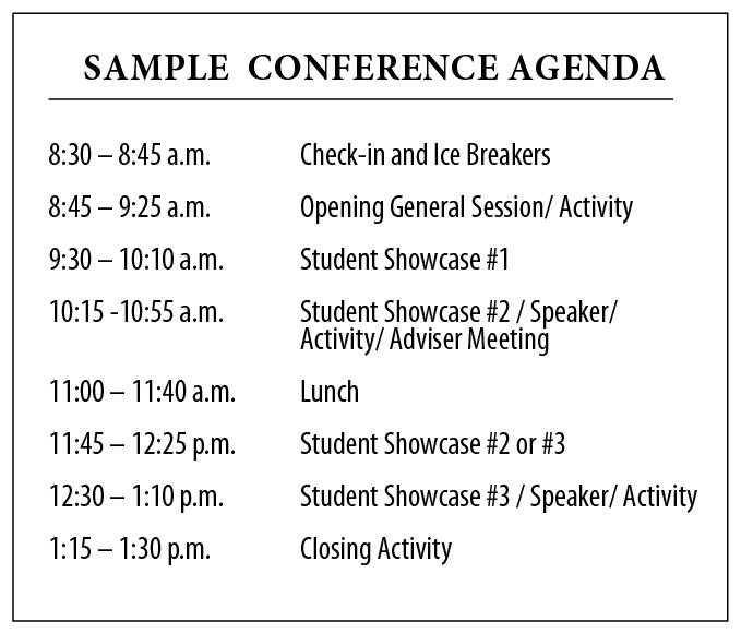 PCEP Congress MASCMAHS Regional Leadership Connect Conference – Sample School Agenda