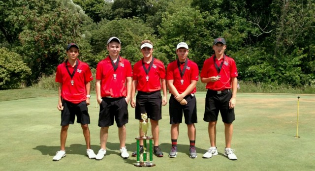 Liberty Union High School Boys Varsity Golf finishes 2nd place