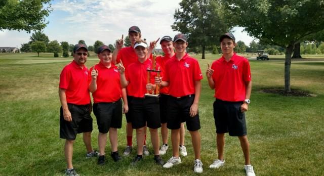 Liberty Union High School Boys Varsity Golf finishes 1st place