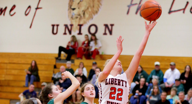 Liberty Union High School Girls Varsity Basketball beat Northridge High School 87-37