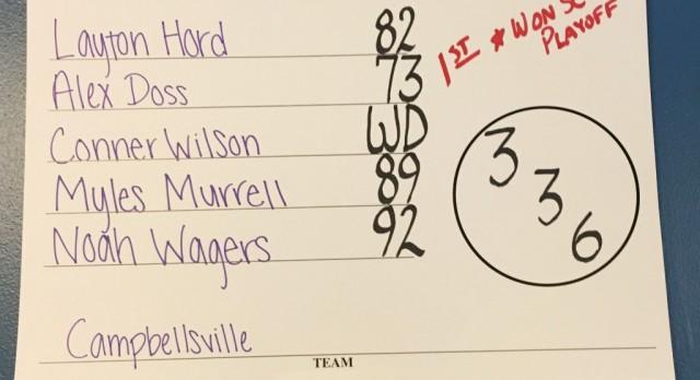 CHS boys' golf team finishes fifth