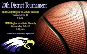 CHS Basketball 20th District Tournament
