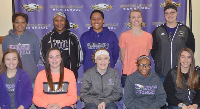 CHS girls' basketball players receive awards