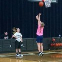 Jr. High Girls Practicing Hard