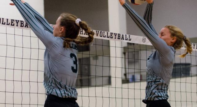 Pelham High School Girls Varsity Volleyball beat Briarwood Christian School 3-0