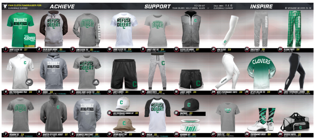 Clover Spirit Wear and Athletic Apparel - Cloverdale High School ...