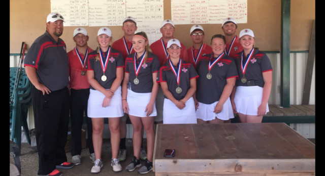 Lady Tigers are Back to Back District Golf Champions!! Mitchell Advances!