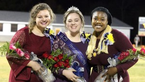 Runners Up; Shania Jackson & Shyla Brisher and our 2016 Homecoming Queen; Savannah Hinzman