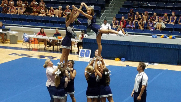 2nd place ribbon gcs varsity cheer team attends uca camp at lander this is the