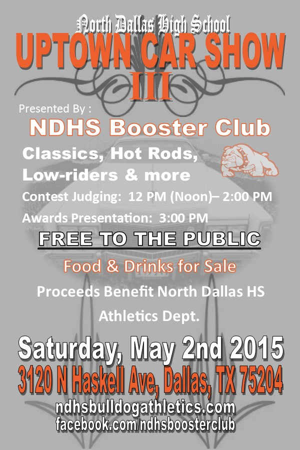 North Dallas Team Home North Dallas Bulldogs Sports - Car show sponsorship levels