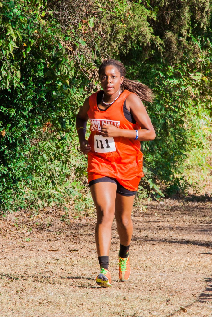Sharae Campbell competed on the ND cross country team. (Photo by Ray Salinas)