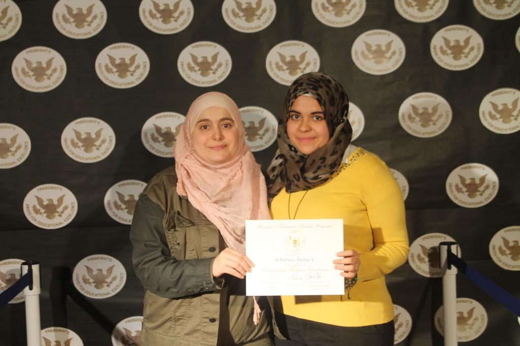 Thabia Al-Fatlawe and her mom