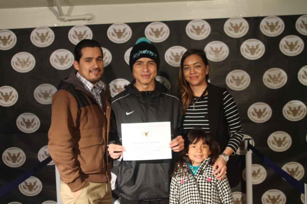 Alec Mireles and his parents