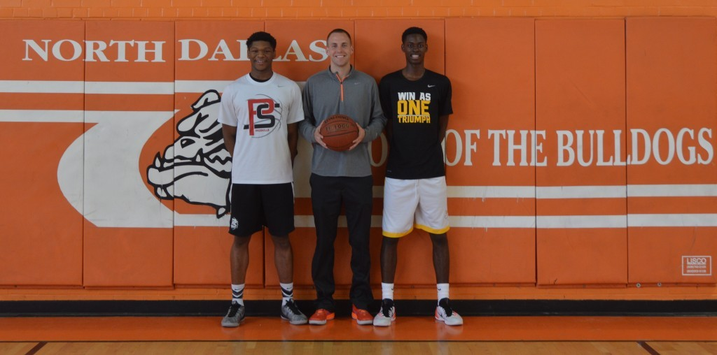 Two reasons for the Bulldogs' improvement this season was Kobe Wrice (left) and Darius Watts who both played summer ball.