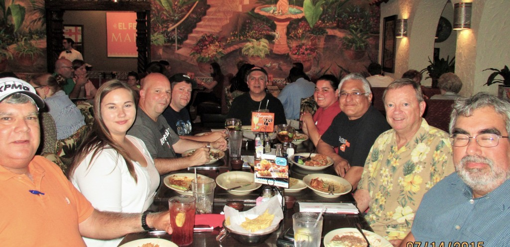 Booster Club members met at El Fenix for a July 2015 meeting.