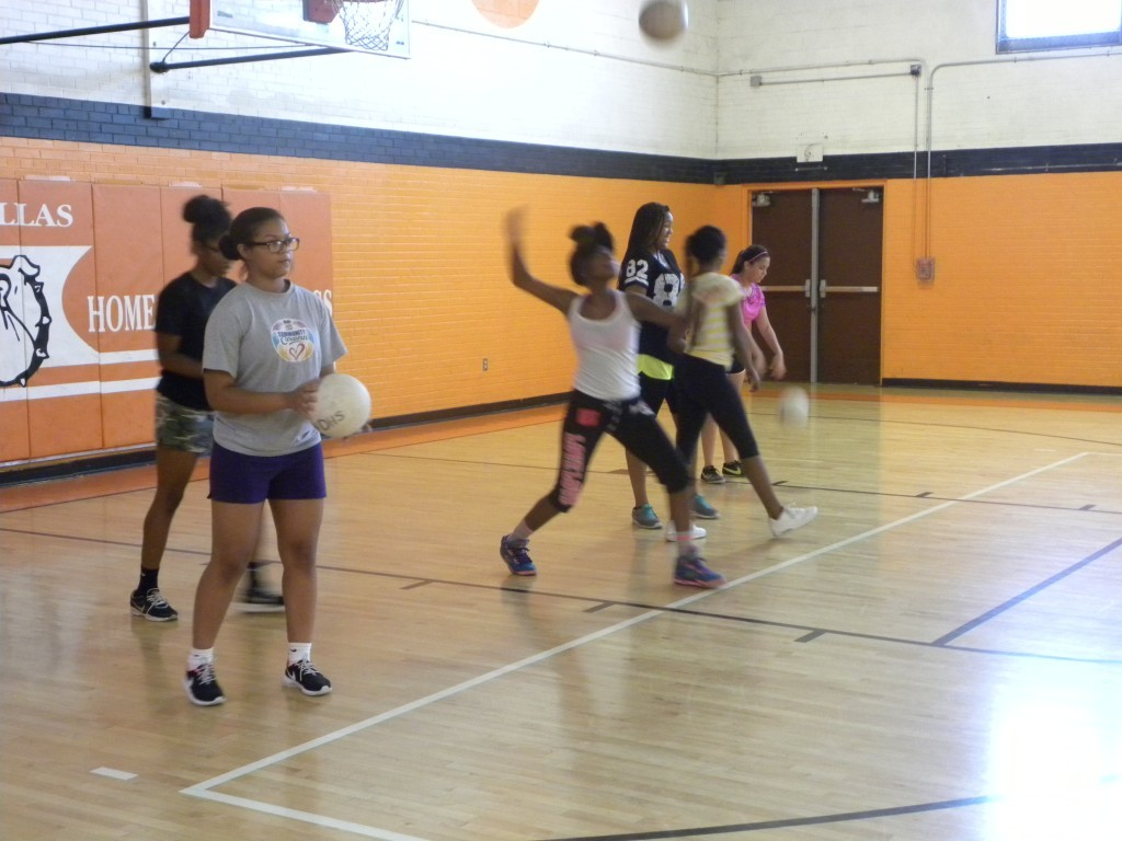 The ND girls opened practice on Monday.
