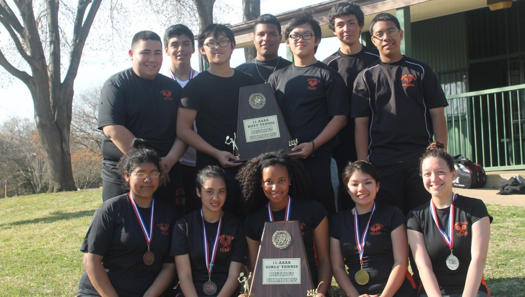 North Dallas' boys and girls teams won district titles in 2014.