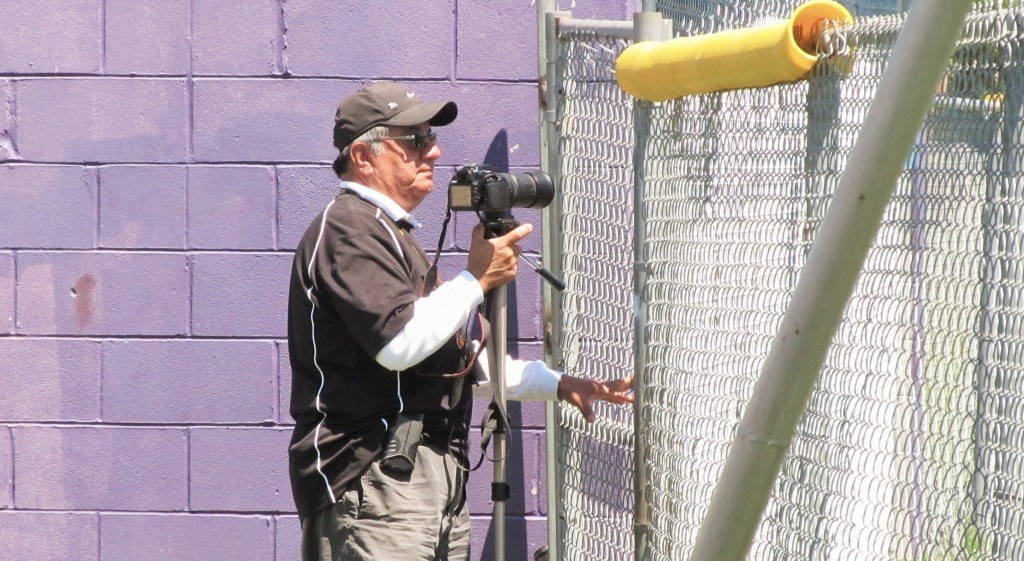 Ernest Cerda took many photos of ND sports and school events during his time at the school. (Photo by Danny Linn)