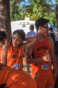 Melissa Calderon and Steven Do compete on the varsity girls and boys teams.