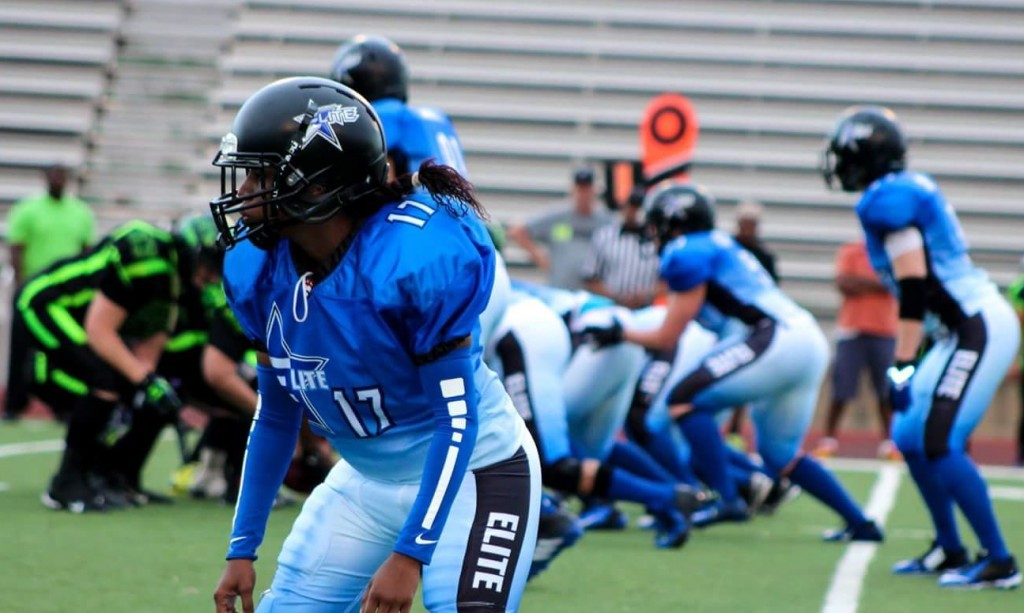 Coach Allen played cornerback with the Dallas Elite this past season.