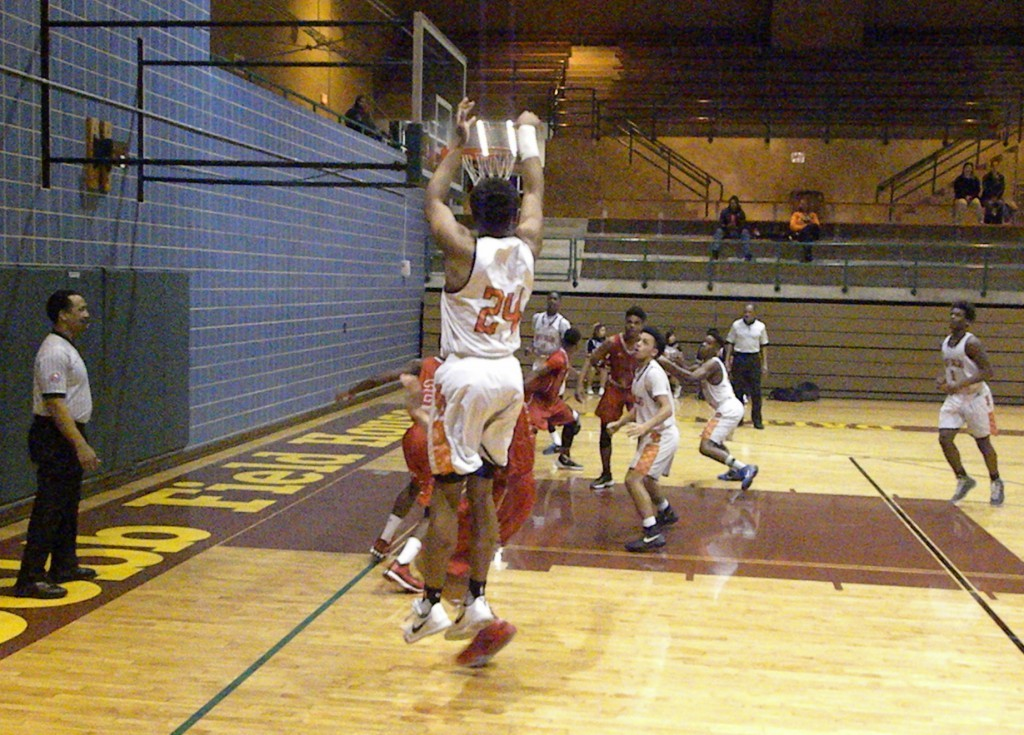 North Dallas' Kobe Wrice takes a shot from the corner.