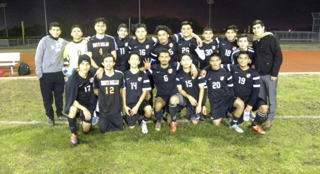 North Dallas soccer teams scoring goals, winning