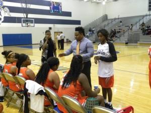 Girls coach Erik Grayson had two freshmen starters on the girls varsity. He only had two seniors this season.