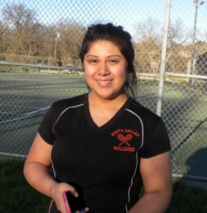 Noemi Padron is a senior leader on the North Dallas girls tennis team.