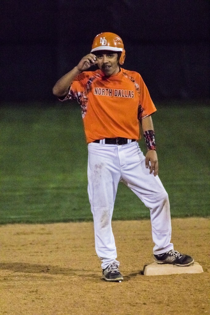 Freshman Adan Galvan plays second base on the varsity team.