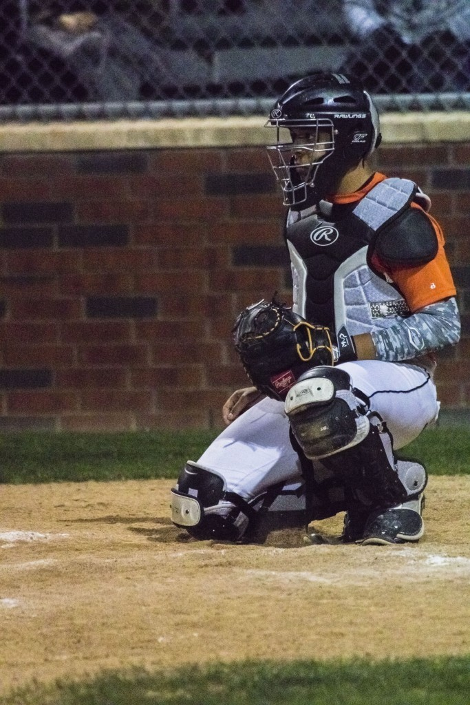 Freshman Carlos Lopez plays catcher and also pitches for the Bulldogs.