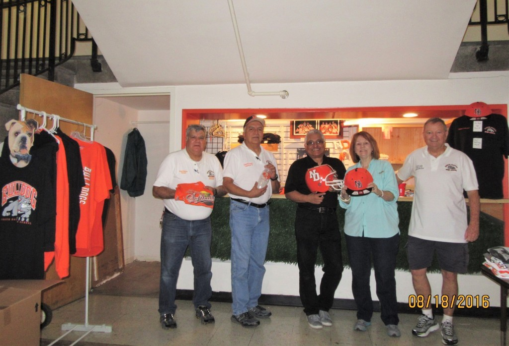 Booster Club members include President Greg Kimber (from left), David Vivero, Vice President Gil Sandoval, June Time and Danny Linn.